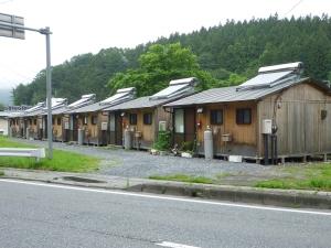 住田町の木造仮設住宅